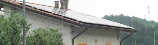 Impianto fotovoltaico a Vezzano Ligure - Spezia - Liguria - <br>Potenza: 6kW - Tipo Impianto: Semi-Integrato