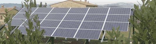 Impianto fotovoltaico a Pomarance - Pisa - Toscana - <br>Potenza: 4,5kW - Tipo Impianto: Integrato