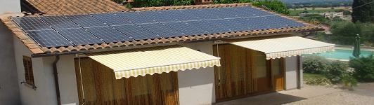 Impianto fotovoltaico a Monte San Savino - Arezzo - Toscana - <br>Potenza: 4,7kW - Tipo Impianto: Integrato