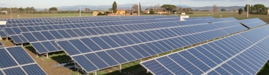 Impianto fotovoltaico a Piombino - Livorno - Toscana <br>Potenza: 600kW - Tipo Impianto: A Terra