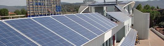 Impianto fotovoltaico ad Arezzo - Arezzo - Toscana <br>Potenza: 90kW - Tipo Impianto: Su Edificio