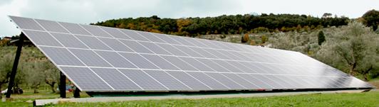 Impianto fotovoltaico a Bagno a Ripoli - Firenze - Toscana <br>Potenza: 19,8kW - Tipo Impianto: Pensilina a Terra