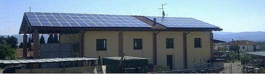 Impianto fotovoltaico loc. Indicatore - Arezzo - Toscana - <br>Potenza: 50kW - Tipo Impianto: Semi-Integrato